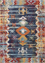 Nuloom Vintage Abstract Osteen Navy Area Rug
