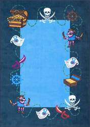 Nuloom Pirate Playtime Blue Area Rug