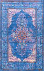 Nuloom Vintage Apryl Blue Area Rug