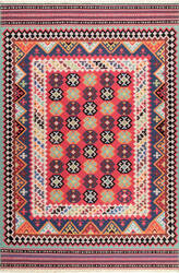 Nuloom Fredricka Tribal Aztec Red Area Rug