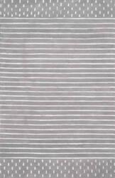 Nuloom Marlowe Stripes Grey Area Rug