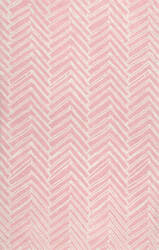 Famous Maker Hand Tufted Alex Pink Area Rug