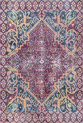 Famous Maker Vintage Joan Red Area Rug