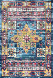 Famous Maker Vintage Ashley Blue Area Rug