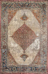 Famous Maker Traditional Essie Orange Area Rug