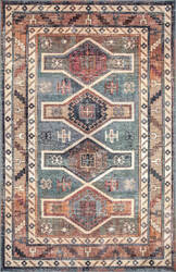 Famous Maker Traditional Monica Blue Area Rug