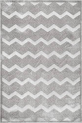 Famous Maker High-Low Chevron Grey Area Rug