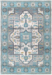 Nuloom Tenesha Tribal Light Blue Area Rug