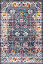 Nuloom Classic Tinted Floral Grey Area Rug