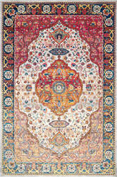 Nuloom Vintage Medallion Shirlee Orange Area Rug