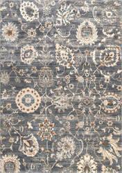 Nuloom Vintage Floral Chalmers Grey Area Rug