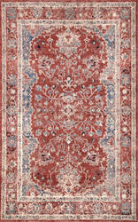 Famous Maker Vintage Evelyn Red Area Rug