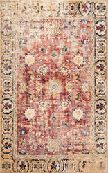 Famous Maker Vintage Patti Orange Area Rug