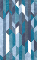 Nuloom Hand Tufted Almeta Blue Area Rug