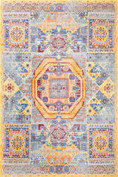 Nuloom Persian Mamluk Laila Yellow Area Rug