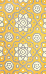 Nuloom Hand Hooked Josefine Yellow Area Rug