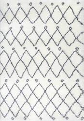 Nuloom Lizzie Diamond White Area Rug