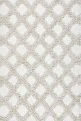 Nuloom Francene Diamond Trellis Ivory Area Rug