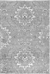 Nuloom Vintage Floral Chastain Dark Grey Area Rug