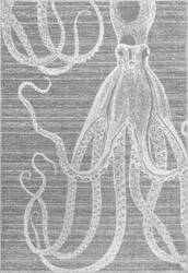 Nuloom Thomas Paul Power Loomed Octopus Grey Area Rug