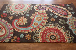 Nuloom Barcelona Aged Paisley Brown Area Rug