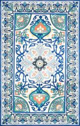 Nuloom Floral Leda Blue Area Rug