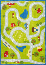 Nuloom Alton Kids Road Trip Green Area Rug