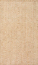 Nuloom Alanna Diamond Jute Natural Area Rug