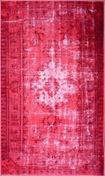 Nuloom Machine Made Chroma Overdyed Pink Area Rug