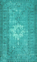 Nuloom Machine Made Chroma Overdyed Turquoise Area Rug