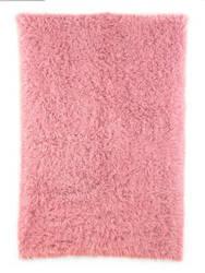 Nuloom Hand Woven Greek Flokati Pink Area Rug