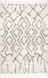 Nuloom Erin Moroccan Diamond Off White Area Rug