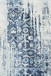 Famous Maker Distressed Ernestina Blue Area Rug
