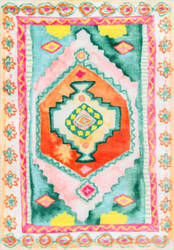 Nuloom Candice Bohemian Diamond Multi Area Rug