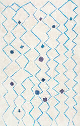 Nuloom Hand Tufted Ninfa Blue Area Rug