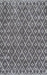 Nuloom Alise Diamond Trellis Grey Area Rug