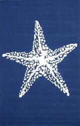 Nuloom Hand Hooked Marine Navy Area Rug