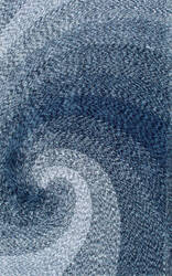 Famous Maker Hand Tufted Dolly Swirl Blue Area Rug