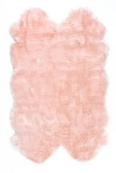 Nuloom Tianna Faux Sheepskin Quarto Blush Area Rug