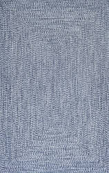 Famous Maker Braided Lefebvre Light Blue Area Rug