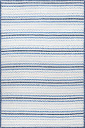 Nuloom Braided Pinstripes Lucinda Blue Area Rug