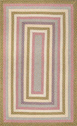 Famous Maker Braided Shay Red Multi Area Rug