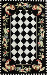 Nuloom Hand Hooked Morning Glory Black Area Rug