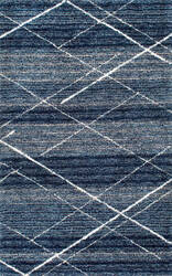 Famous Maker Hand Tufted Vito Blue Area Rug