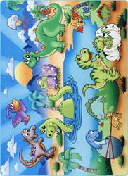Nuloom Dino Island Playtime Multi Area Rug