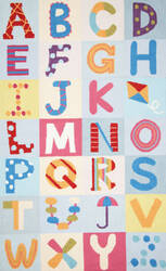 Nuloom Alphabet Boxes Multi Area Rug