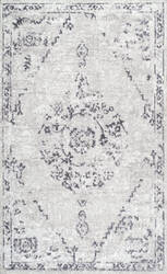 Nuloom Vintage Devries Grey Area Rug