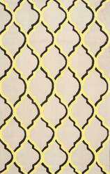Nuloom Chieko Hand Hooked Yellow Area Rug