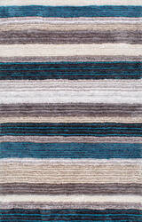 Nuloom Hand Tufted Classie Shag Blue Multi Area Rug