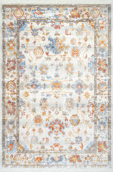 Nuloom Mallie Faded Fringe Ivory Area Rug